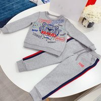 çocuklar kış eşofman toptan satış-Sonbahar Kış Çocuk Giyim Seti 2019 Yeni Kız Çocuklar Sıcak Eşofman Pamuk Kalın gömlek + pantolon 2 adet Boys Için Suit