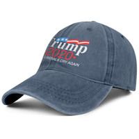 Wholesale cute ball caps for women for sale - Group buy For men and women vintage Denim hat Washed Adjustable Trump American flag custom baseball hats cute Dad hats Outdoor