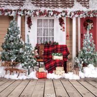 fotografía navidad telones digitales al por mayor-Vinilo personalizado Fotografía Telones de fondo Prop digital impreso vertical día de Navidad tema Photo Studio fondo JLT-10280