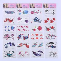 Wholesale black white paper stickers online - small fresh tattoo sticker geometric tattoo sticker cute cartoon tattoo paper