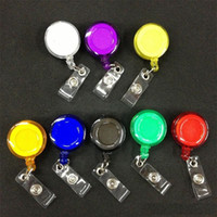 Wholesale retractable clip for id cards resale online - 5000pcs Retractable Reel ID Badge Key Card Name Tag Holders with Belt Clip for Keys ids badges colors