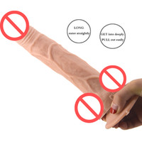 Wholesale silicone porn toys for sale - Group buy Long Penis Dongs Soft Skin Color Strong Chuck Dick Sex Toy For Porn Vagina Easy To Reach Sexual Orgasm