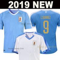 camisas de futebol uruguai venda por atacado-Uruguai 2019 Copa América camisa de futebol SUAREZ 19 20 soccer jersey football shirt Uruguay CAVANI GODIN L.SUAREZ E.CAVANI RODRIGUE camisa de futebol tailândia qualidade