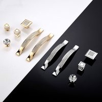Wholesale kitchen cupboard crystal handles resale online - Home Kitchen Decor Modern Diamond Crystal Drawer Cabinet Cupboard Jewelry Wardrobe Door Handle Knobs Home Improvements