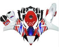 juego de carenados de moto al por mayor-4Gifts nuevo ABS de moldeo por inyección de carenados de motos kits de ajuste del 100% para Honda CBR1000RR 08 09 10 11 2008-2011 carrocería conjunto blanco, azul, rojo