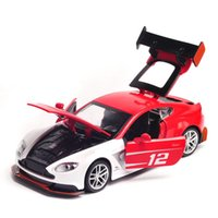 Wholesale roadsters cars for sale - Group buy CB Alloy Car Model Toys Aston Martin GT3 Racing Sports Car Roadster with Lights Sound Party Kid Birthday Gift Collecting Decoration