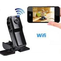pc wifi al por mayor-Mini Cámara Remota Wifi para Iphone Android Ipad PC Mini Cámara de Vigilancia Inalámbrica P2P Mini Nanny Cam MD81 MD81S