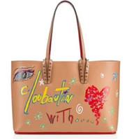 grandes bolsas vermelhas venda por atacado-New Color bcabata bolsas de grife totes fundo vermelho composto bolsa famosa bolsa de couro genuíno Bolsas Grandes Saco de Compras