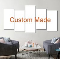 Wholesale custom framed canvas prints for sale - Group buy Customized Prints Painting Custom Made Canvas Picture Frame Panel Modular Home Decor Drop Shipping