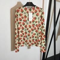 fraises gratuites achat en gros de-Livraison Gratuite 2019 Été Fraise Lettre Broderie Été T-Shirt Femme Marque Même Style T-Shirt Femme 042606