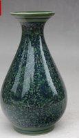 зеленая белая ваза оптовых-Китайский старый синий и белый фарфор орнамент ВАЗа зеленый