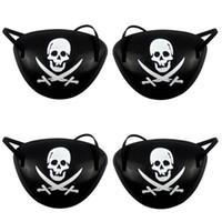 ingrosso le macchie degli occhi per i bambini-Pirata benda sull'occhio e pirati cappelli Skull Crossbone Halloween Party Favor Bag costume per bambini di Halloween giocattolo del mestiere da regalo