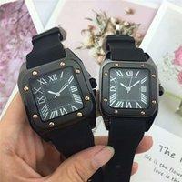 классические часы для швейцарских часов оптовых-Высокое Качество Пара Классические Часы Мужчины Люксовый Бренд Швейцарские Кварцевые Часы Женщины Мода Часы Резина Человек Серебро Золото Orologio Uomo Спорт