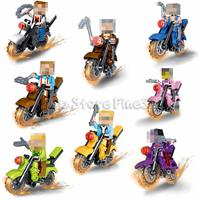 Wholesale world action for sale - Group buy POGO World Block JLB Building Blocks Self Locking Bricks Motorcycle Educational Dolls For Kids Gifts Action Figures Toy Weapon Riders