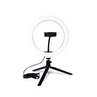 anéis led smd venda por atacado-LED Light Anel Estúdio Photo Video Regulável lâmpada Tripod LED SMD Design Suporte selfie câmera do telefone para Fotografia