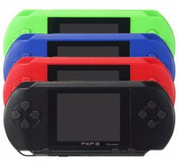Wholesale 16 bit portable game consoles online - Portable PXP3 bit inch Game Player Digital Pocket Video Game Console System TV Out Games Free DHL