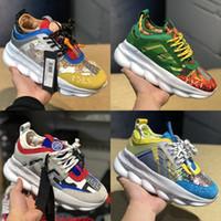 Wholesale men designer silver chains resale online - Chain Reaction Black Multi Color Rubber Suede Men Women Fashion Luxury Designer Shoes Concepts Advanced Platform Casual Shoes Trainers