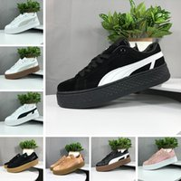Wholesale professional casual shoes resale online - 2019 Smash Platform SD Platform Wheat black Green Casual shoes Fenty Cleated Creeper Professional shoes Outdoor Trainer PM Suede Creepers