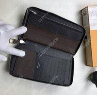 vários cartões de crédito venda por atacado-Estrela com o mesmo parágrafo zíper carteira vertical pacote de cartão de crédito de alta qualidade dobrar dinheiro compartimento para cartão múltiplo M60109