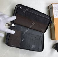 porte-monnaie multiple achat en gros de-Étoile avec le même paragraphe portefeuille vertical fermeture à glissière Paquet de carte de crédit de haute qualité se pliant argent compartiment de fente pour plusieurs cartes M60109