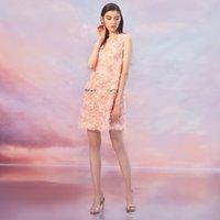 Wholesale printed body dresses online - 2019 Mini Dress Sexy Celedrity Sequoned O Neck Women Print Tassel Sweet Night Club Sleeveless Body con Party Dresses