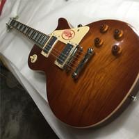 cosecha de caoba al por mayor-Envío gratis China Custom Standard Vintage Sunburst Guitarra 1959 VOS R9 Cuerpo de caoba buena Seymour Duncan Pastillas Tiger Flame Honeyburst