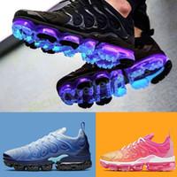 Wholesale running shoes for men tn resale online - TN Plus Running Shoes For Men Women Royal Persian Violet Black Volt Rainbow Grape Bleached Aqua Designer Triple Black Trainer Sport Sneakers