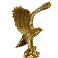 Wholesale japanese art styles resale online - Bronze Crafts Pure Copper Eagle Decorations Great Exhibition Eagle Home Decoration