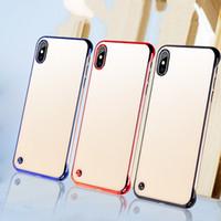 iphone grenzfälle großhandel-Kein Rand transparenter ultradünner Antifall PC Fall für iPhone 11 Pro 5.8 6.1 X Xs maximales Xr 7 Plus