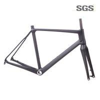 standart çerçeveler toptan satış-Karbon Di2 Bisiklet Cyclocross Çerçeve standart QR aks aracılığıyla Disk fren Bisiklet Yol Frameset 51.5 cm 54 cm 56.5 cm
