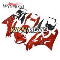 ingrosso kawasaki ninja zx 11-ZX6R 09-11 Carenature complete per Kawasaki ZX-6R Ninja 2009 2010 2011 ZX-6R 09 10 11 Iniezione ABS Plastica Moto Shinny Rosso New Cowling