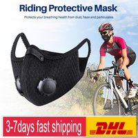 Wholesale training masks for sale - Group buy US Stock Cycling Protective Mask With Filter Activated Carbon PM2 Anti Pollution Sport Running Training MTB Road Bike Cycling Mask