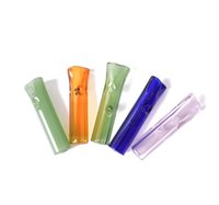 Wholesale 8mm tube resale online - 8mm Mini Glass Filter Tips With Flat Round Mouth for RAW Rolling Papers Tobacco Cigarette Holder Pyrex Glass Tube Filter Pyrex Glass Smoking