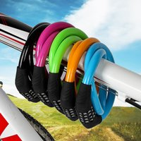 Wholesale bicycle security lock cable for sale - Group buy Theft Prevention Bike Locks Security Solid Durable Bicycle Password Lock Anti Wear Portable Pure Color Universal Factory Direct jkI1