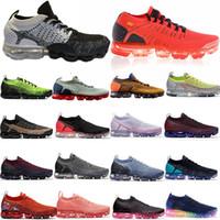 zapatillas de leopardo al por mayor-2019 Knit 2.0 Fly 1.0 zapatos corrientes de BHM ni blanco azul de las mujeres del leopardo para hombre del diseñador de zapatos de las zapatillas de deporte