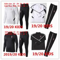 crianças, treinamento, paleto venda por atacado-2019/20 crianças JuventUS jaqueta de Treinamento terno 2019 2020 criança RONALDO DYBALA MANDZUKIC menino crianças jaqueta de agasalho Camisola uniforme