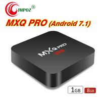 caixa de tv android 8gb venda venda por atacado-Venda de fábrica OEM MXQ Pro 4K caixa de TV Android RK3229 Android 7.1 Quad Core caixa de tv inteligente 1 GB 8 GB HDMI Streaming Media Player
