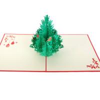 tarjeta de deseos 3d hecha a mano al por mayor-Tarjeta de felicitación Felicitaciones Meng Pet Paradise Hueco Talla de papel Hecho a mano Origami Deseos Regalos tarjeta de invitación 3D