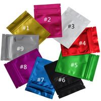 ingrosso sacchetti di regalo in plastica variopinta-Borsa d'imballaggio di plastica della chiusura lampo del sacchetto di colori della borsa dello zip di colore pieno insacca la piccola borsa della stagnola variopinta dello zip