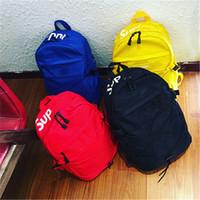 Wholesale food bag woman resale online - Sup Brand Inches Knapsack Both Shoulders Letters Bag Travel Backpacks Men And Women Unisex yy E1