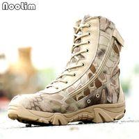 botas de combate tácticas negras al por mayor-2017 Nuevos hombres Camuflaje y botas de combate tácticas negras Asker Bot Hombres Botas al aire libre Zapatos militares Zapatos de escalada