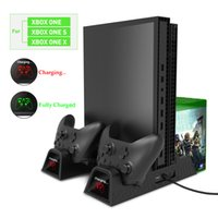 Wholesale xbox one rechargeable for sale - Group buy High quality Vertical Cooling Stand Cooler Charging Station for Xbox One X XBOX ONE S XBOX ONE X with Rechargeable Battries