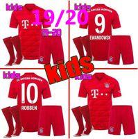 uniformes futebol venda por atacado-novo Bayern Munique crianças camisolas de futebol 19/20 crianças kit completo LEWANDOWSKI MULLER ROBBEN GOTZE 2019 2020 meninos uniformes com meias