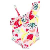 traje de baño de una pieza 18 al por mayor-2 18 nuevo bebé niñas niños cereza traje de baño de una pieza bikinini