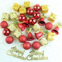 Wholesale lake decor for sale - Group buy 32Pcs Set Christmas Tree Decorations Lake Blue Bells Balls Bauble Decor Gift Xmas Party Hanging Ornament For Home Shopping Mall