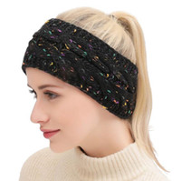 Wholesale head band boho online - Knitted Headband Adults Men Women Sport Winter Warm Beanies Hair Accessories Boho Yoga Headbands Fascinator Hat Ear Head Colors without c