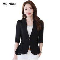 ingrosso cappotti uniformi-MDINCN Abiti formali da donna Abiti da lavoro Lady Uniform Designs Blazer da ufficio Feminino Cappotti eleganti da lavoro