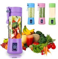 mini sıkma makineleri toptan satış-Taşınabilir Elektrikli Sıkacağı USB Mini Meyve Karıştırıcılar Sıkacakları Meyve Sıkacaklar Gıda Milkshake İşlevli Suyu Yapma Makinesi 4 Renkler