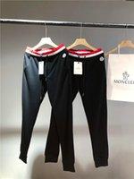 yeni spor pantolonu toptan satış-19ss Yeni Varış Mengkou MC Paris Pantolon elastik Kırmızı bel parça Pantolon Erkekler Moda spor Jogging Yapan Rahat Sweatpants Açık pantolon