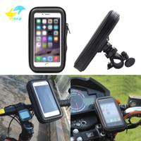 bisiklet su geçirmez telefon tutucu kılıf toptan satış-Bisiklet Motosiklet Telefon Tutucu telefon Desteği Moto Standı Çantası Için Iphone X 8 Artı S10 GPS Bisiklet Tutucu Su Geçirmez Kapak ...